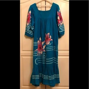 Vintage Rare Ramona Rull Bohemian Kaftan Dress